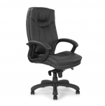 Stylish Leather Faced Executive Chair Black 608