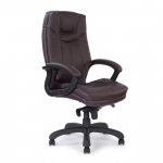 Stylish Leather Faced Executive Chair Burgundy 608