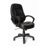 High Back Leather Effect/PU Executive Chair Black 605