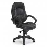 High Back Leather Faced Executive Chair Black 605