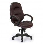 High Back Leather Faced Executive Chair Burgundy 605